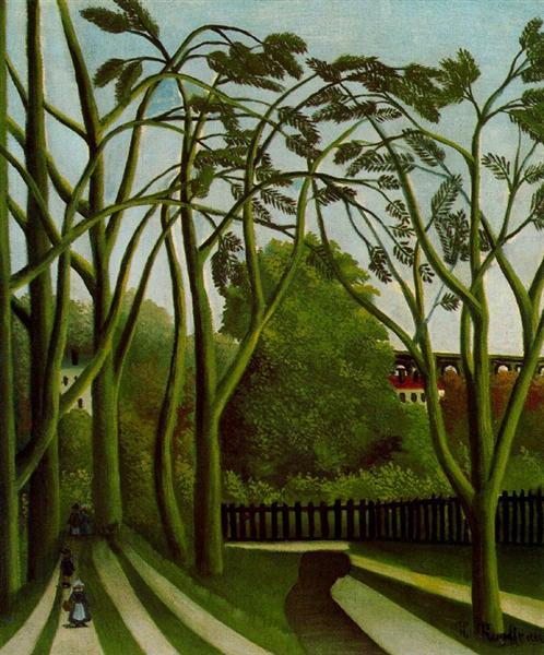 Landscape on the Banks of the Bievre at Becetre, 1908 - 1909 - Henri Rousseau
