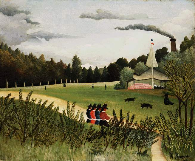 Park with Figures, c.1895 - Henri Rousseau