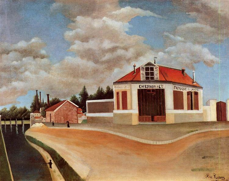 The chair factory at Alfortville, c.1897 - Henri Rousseau
