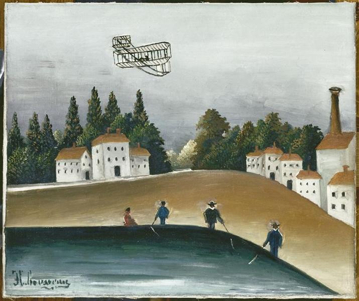 The Fishermen and the Biplane, 1908 - Henri Rousseau