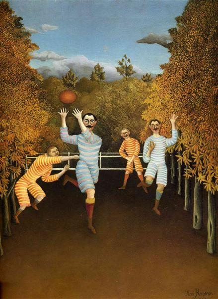 The Football Players (soccer), 1908 - Henri Rousseau