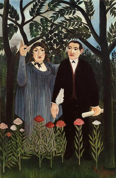 The Muse Inspiring the Poet, 1909 - Henri Rousseau
