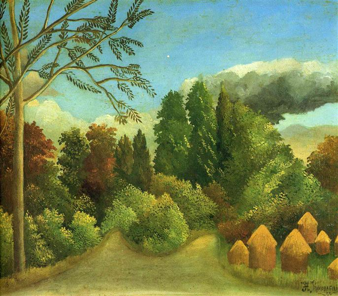 View of the Banks of the Oise, 1905 - 1906 - Henri Rousseau