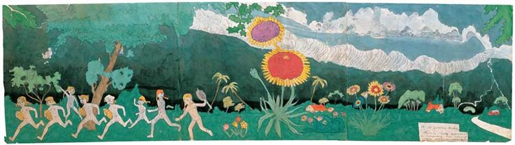 53 At Jennie Richee Assuming nuded appearance... - Henry Darger