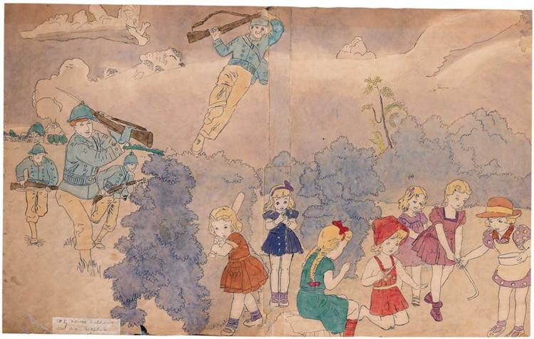 At 5 Norma Catherine. But Are Retaken. - Henry Darger