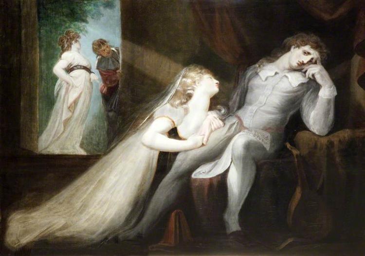 The Return of Milton's Wife, 1798 - 1799 - Johann Heinrich Füssli