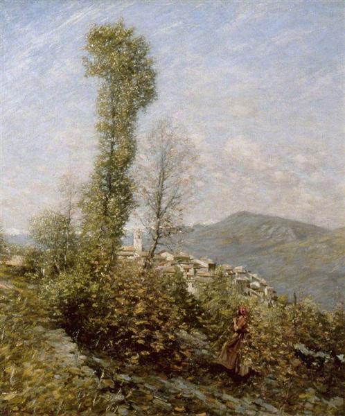 A Hillside Village in Provence, France, 1914 - Henry Herbert La Thangue
