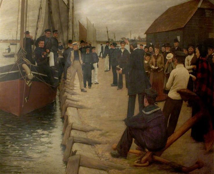 A Mission to Seamen, 1891 - Henry Herbert La Thangue