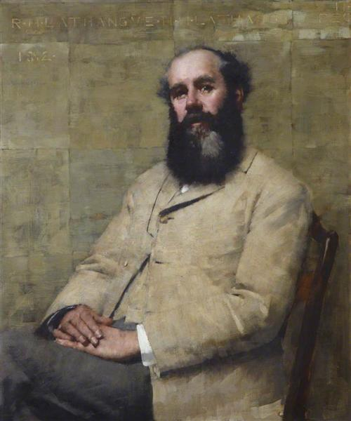 R. H. La Thangue (Portrait of the Artist's Father), 1882 - Henry Herbert La Thangue