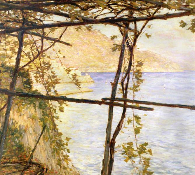 Trellised Vines - Henry Herbert La Thangue