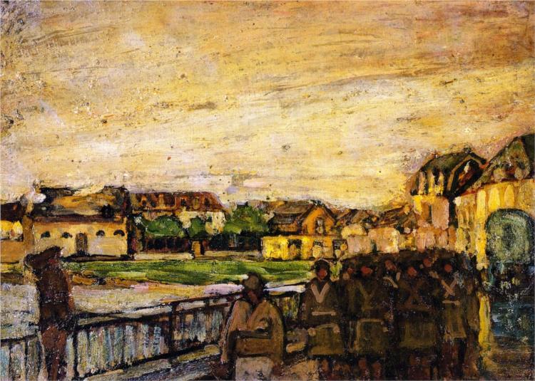War Scene, Etaples, France, 1914 - Henry Ossawa Tanner