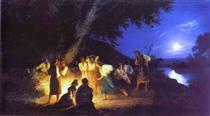 Night on the Eve of Ivan Kupala - Henryk Siemiradzki