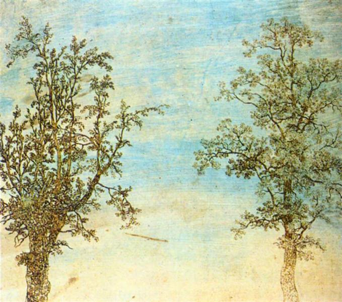 Two Trees, 1625 - Hercules Seghers