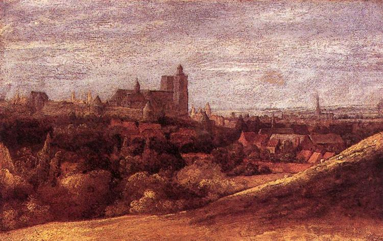 View of Brussels from the North East, 1625 - Hercules Seghers