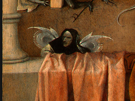 Death and the Miser (detail), c.1485 - 1490 - Hieronymus Bosch