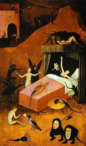 Death ofwhore, c.1490 - c.1510 - Hieronymus Bosch