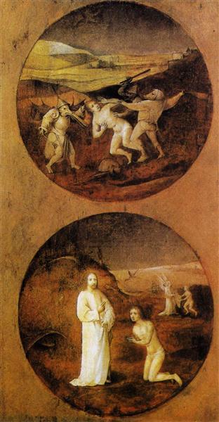 Mankind Beset by Devils (reverse of Noah panel), 1500 - 1504 - Hieronymus Bosch