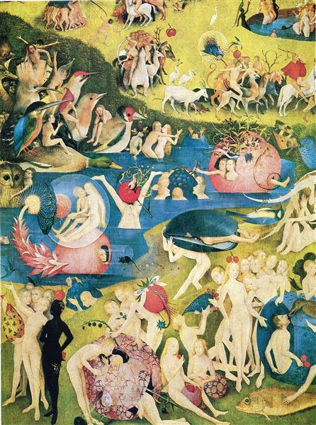 The Garden ofEarthly Delights  (detail), 1490 - 1500 - Hieronymus Bosch