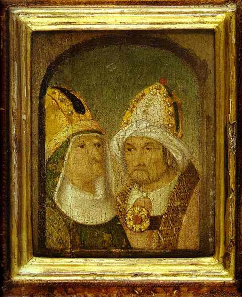 Two Male Heads, c.1480 - Hieronymus Bosch