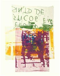 'Daniel Meyerplein' No 6. - mono-print, 2007; artist Hilly van Eerten - Hilly van Eerten