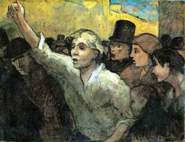 The Insurrection, c.1852 - c.1858 - Honore Daumier