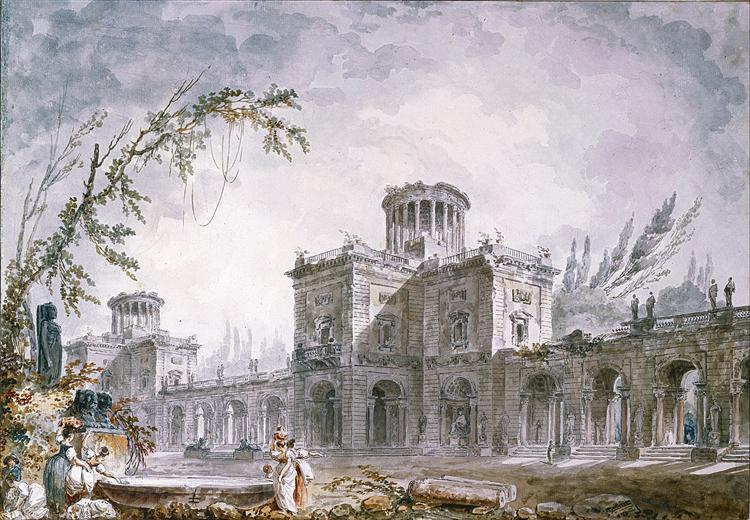 Architectural Fantasy, 1760 - Hubert Robert