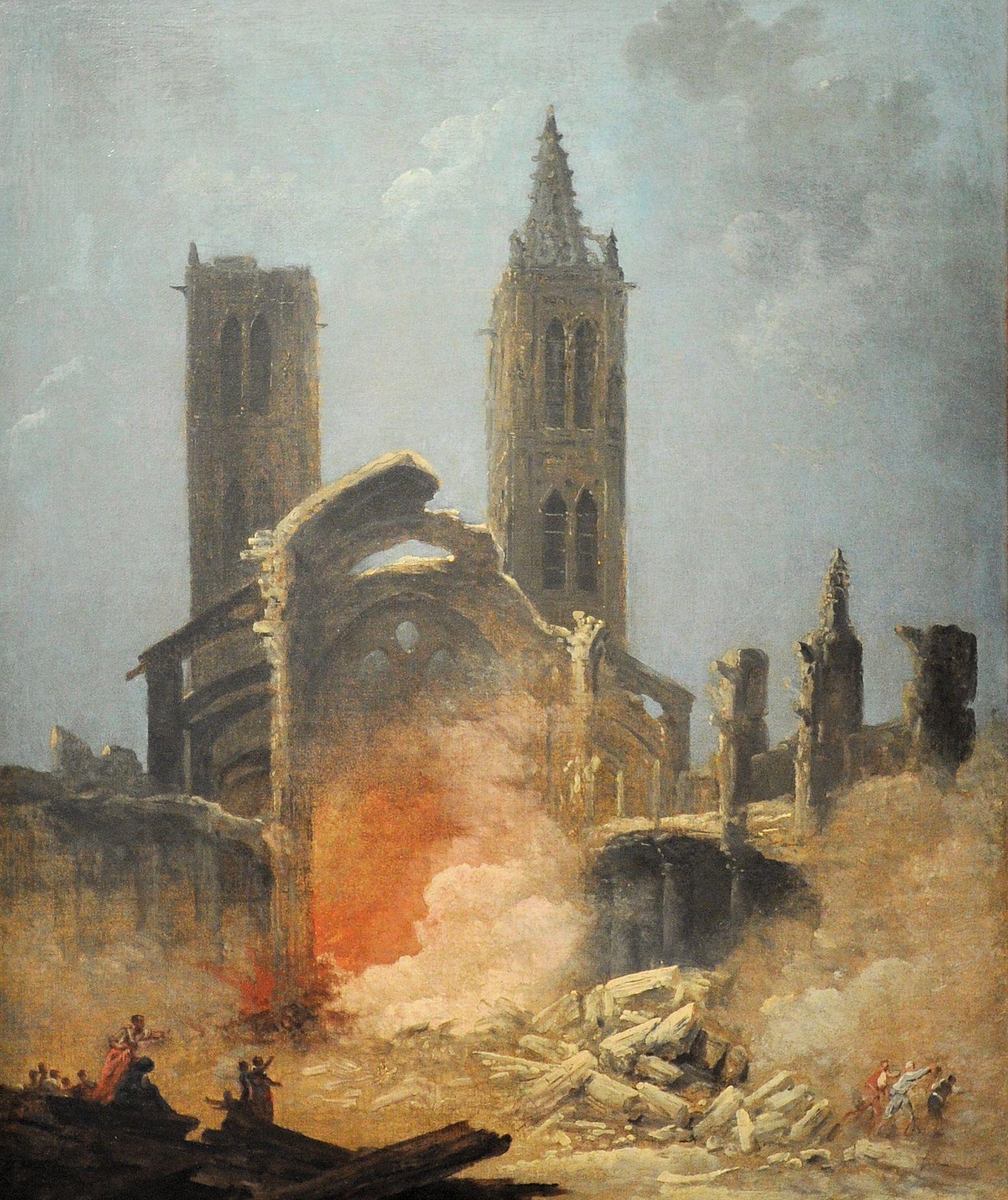 Démolition de l'église Saint-Jean-en-Grève - Musée Carnavalet, 1800