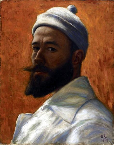 Self-Portrait, 1907 - Hugo Simberg