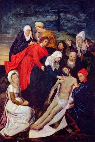 Diptych of The Fall of Man and The Redemption (Lamentation of Christ), c.1480 - Hugo van der Goes