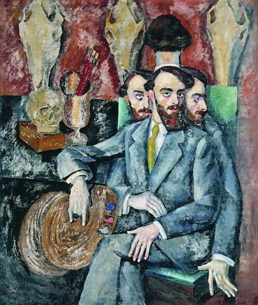 Portrait of the Artist A. Milman, 1917 - Ilya Mashkov