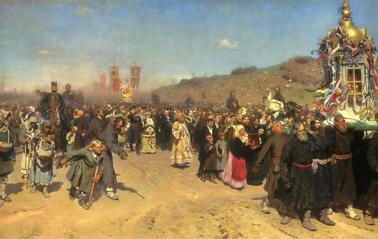 Religious Procession in Kursk, 1880 - 1883 - Ilya Repin