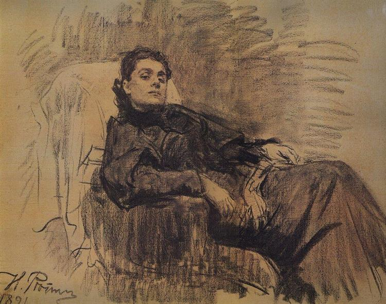 Portrait of actress Eleonora Duse, 1891 - Iliá Repin