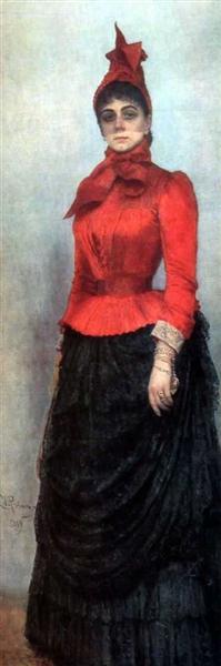 Portrait of Baroness Varvara Ikskul von Hildenbandt, 1889 - Ilya Repin