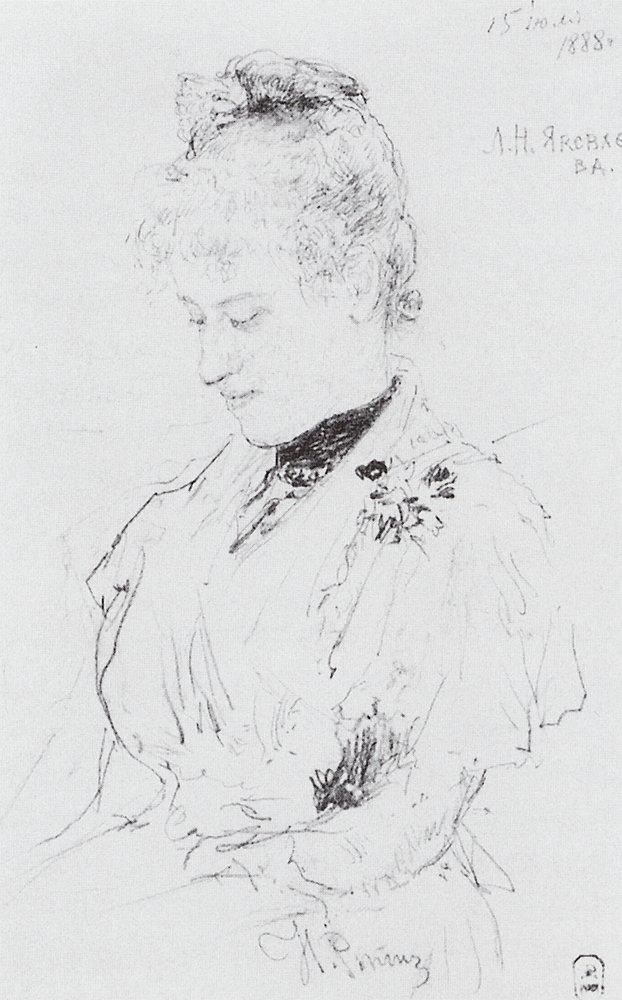 Portrait of L.N. Yakovleva, 1888