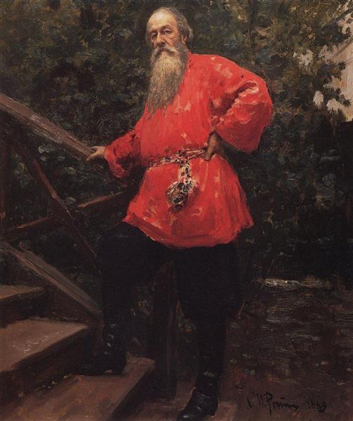 Portrait of the Art Critic Vladimir Stasov, 1889 - Ilya Repin