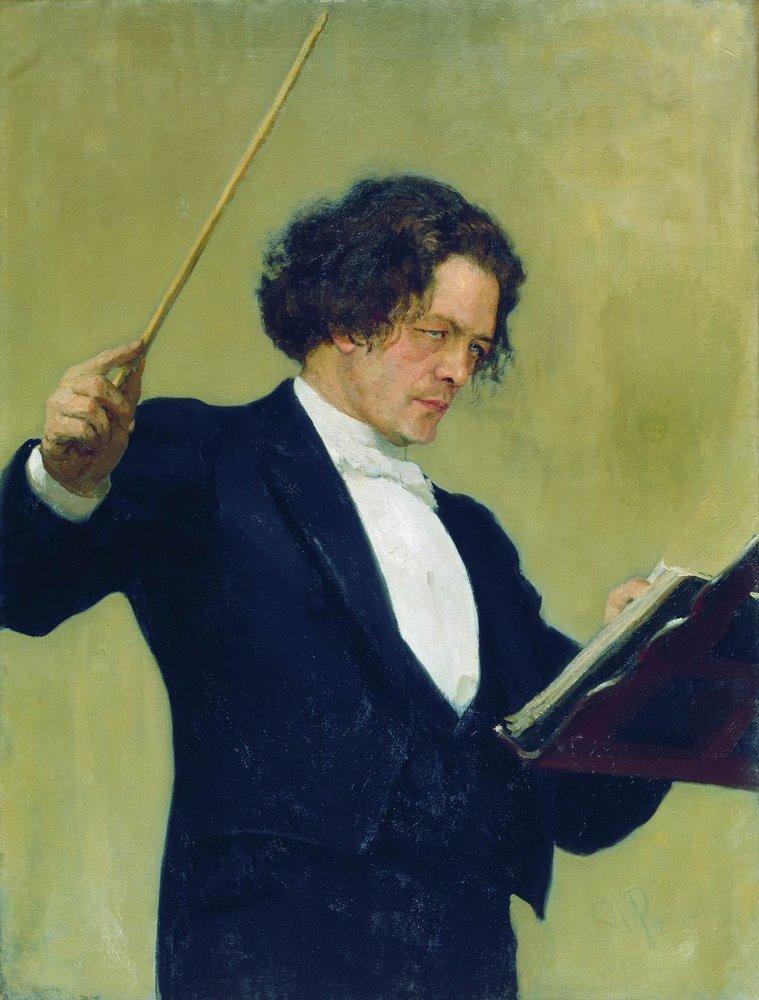 Portrait of the Composer Anton Rubinstein, 1887