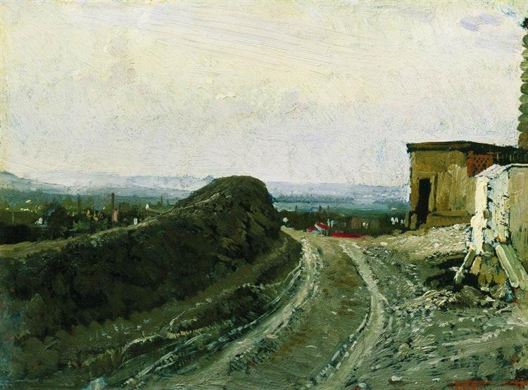 The road from Montmartre in Paris, 1875 - 1876 - Ilya Repin