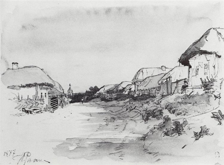 The Village of Mokhnachi, 1877 - Ilya Repin