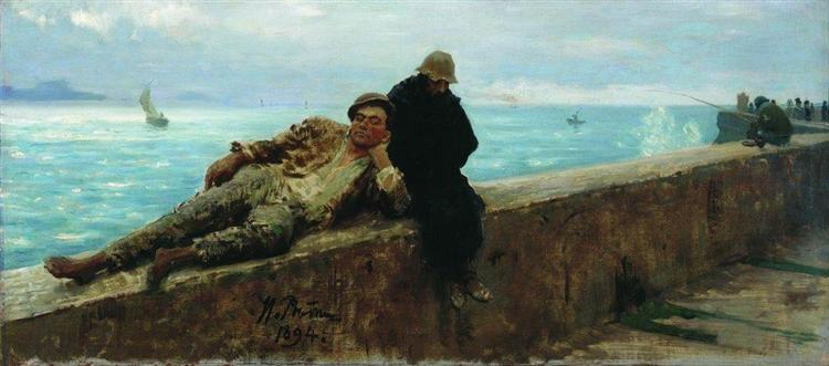 Tramps. Homeless., 1894 - Ilya Repin