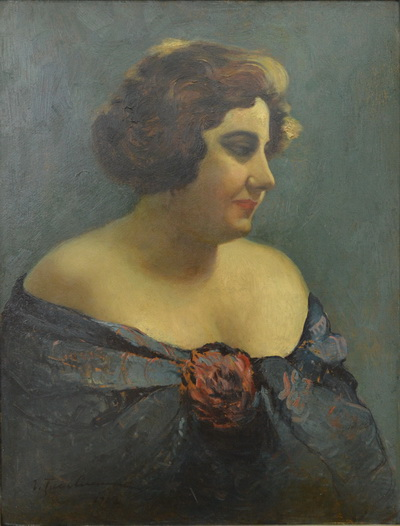 Portrait of Actress Aura Fotino, 1927 - Ion Tuculescu