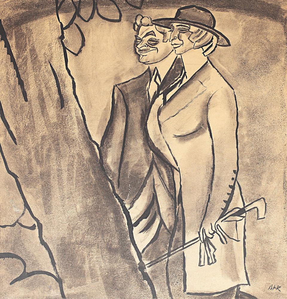 Burghezi la promenadă (Maria Filotti și Nicolae Soreanu), 1912