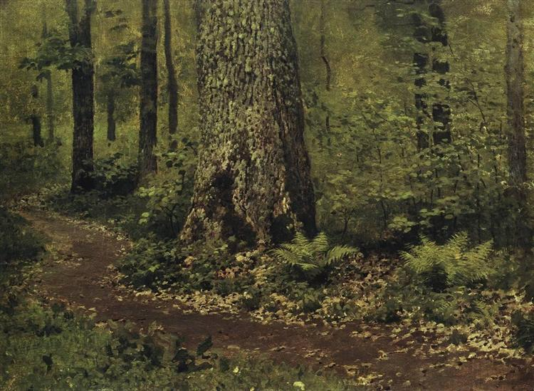 Footpath in a Forest. Ferns., c.1895 - Isaac Levitan