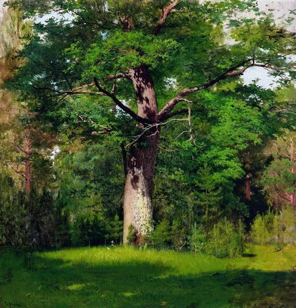 Oak, 1880 - Isaak Iljitsch Lewitan