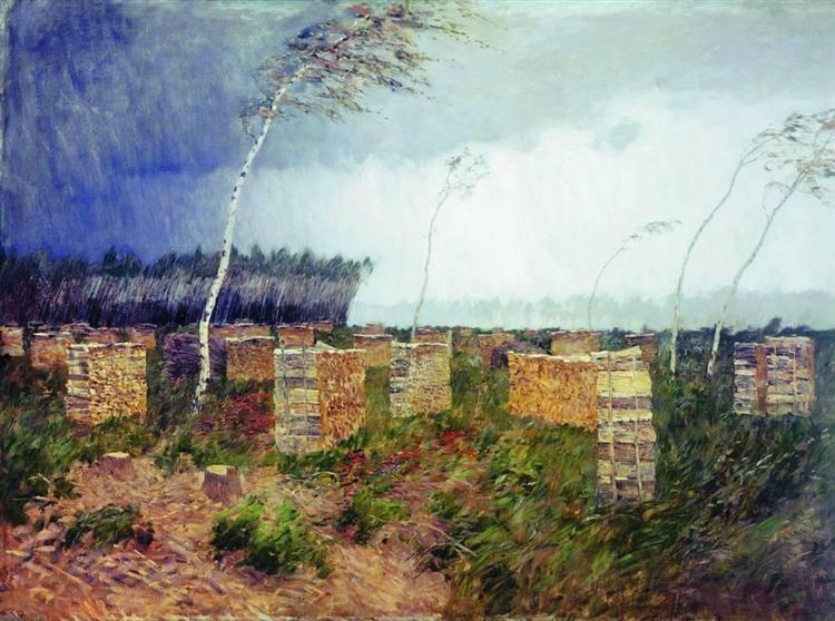 Tempest. Rain., 1899 - Isaak Iljitsch Lewitan