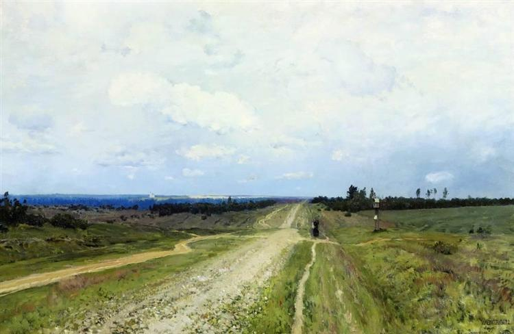 The Vladimir's road - Isaac Levitan