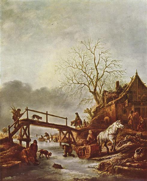 A Winter Scene, c.1645 - Isaac van Ostade