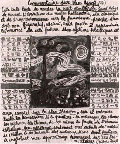 Comment on Van Gogh (XIV.), 1985 - Isidore Isou