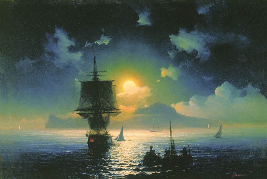 Lunar night on Capri, 1841