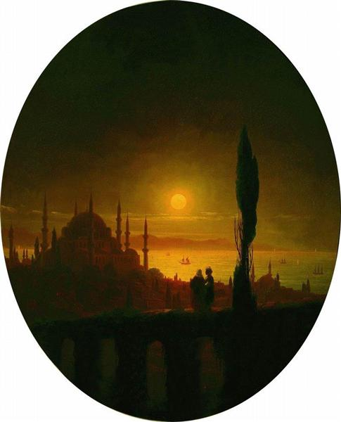 Moonlit night beside the sea, 1847 - Ivan Aivazovsky