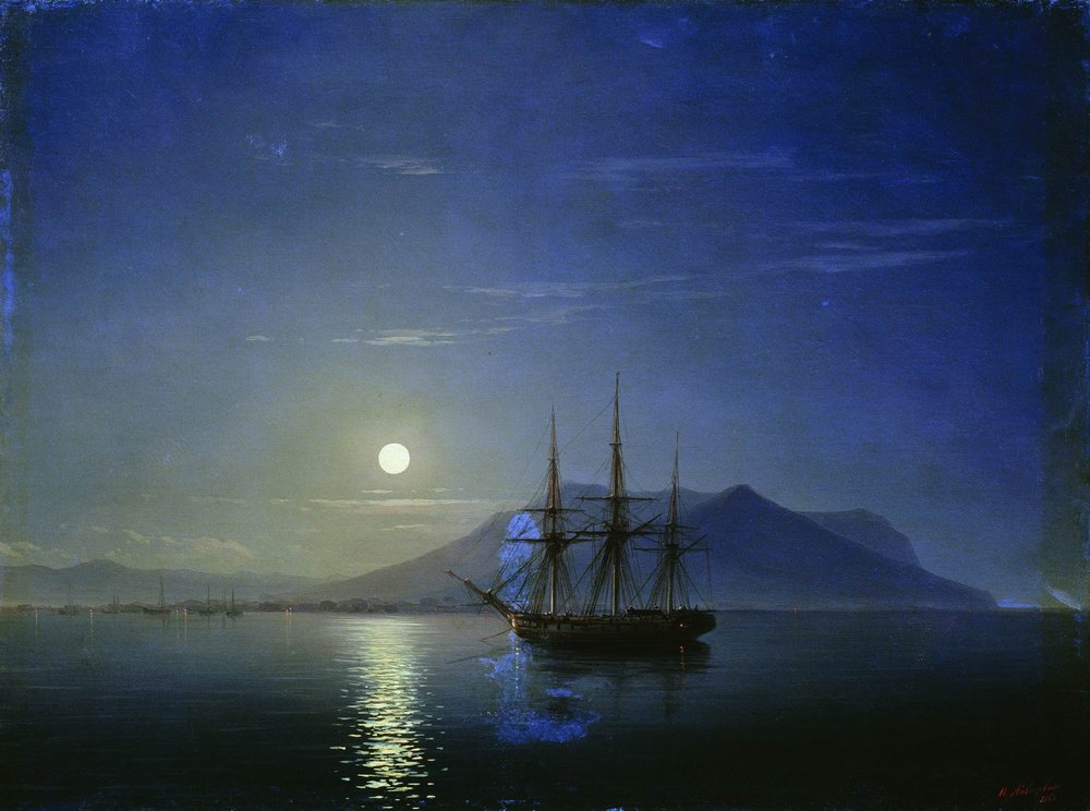 moonlit night Available for sale from trinity house paintings, john atkinson grimshaw, wet  moonlit night (clyde shipping) (1883), oil on canvas, 19 1/2 × 29 1/2 in.